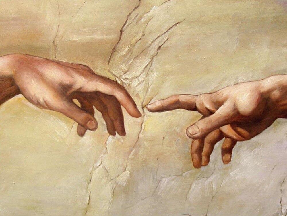 Michaelangelo quot Creation of Adam quot Sistine Chapel Renaissance Art T shirt2018 Fashion slim T shirts T Shirt Men 39 s Tee Shirts in T Shirts from Men 39 s Clothing