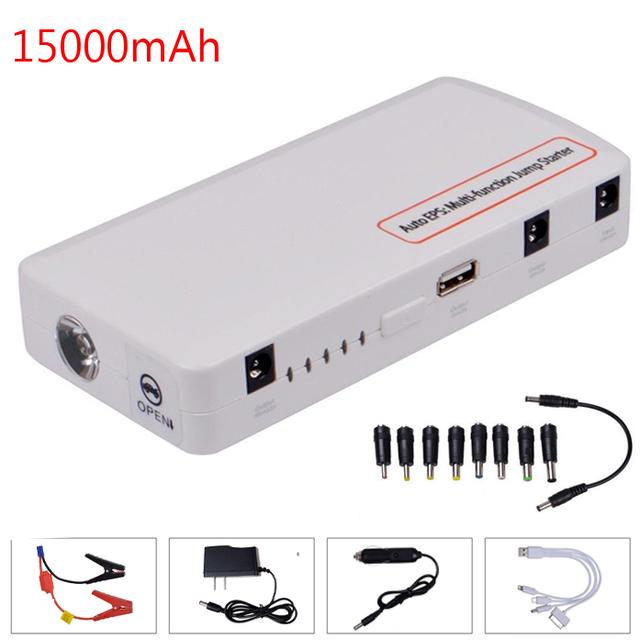 Alta calidad 15000 mah cargador de batería de coche portátil salto de arranque 12 v mini banco de la energía para samsung tableta del teléfono mobie pc mp3/mp4