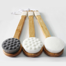 Long Handle Bathing Brushes Anti-slip Wooden Body Massage Br