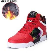 GRAM EPOS/Мужские осенне-зимние супер теплые плюшевые ботинки на меху; мужская повседневная обувь для уличных танцев; вечерние туфли для пар; Zapatilla