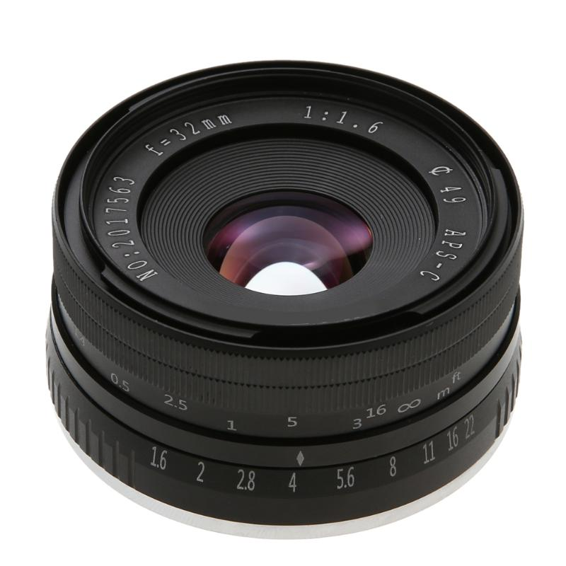ALLOYSEED Prime Fixed Lens 32mm F1.6 Aperture Manual APS-C for Sony E-Mount Digital Mirrorless Cameras NEX 3 NEX 6 7 A6500 sony a6500