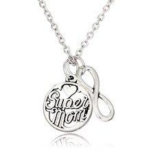 Super Mom Silver Necklace Pendant