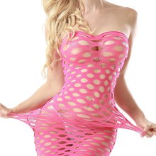 High Elasticity Fishnet Underwear Cotton Lenceria Sexy Lingerie Hot Women Costumes Mesh Baby Doll Dress Erotic Lingerie