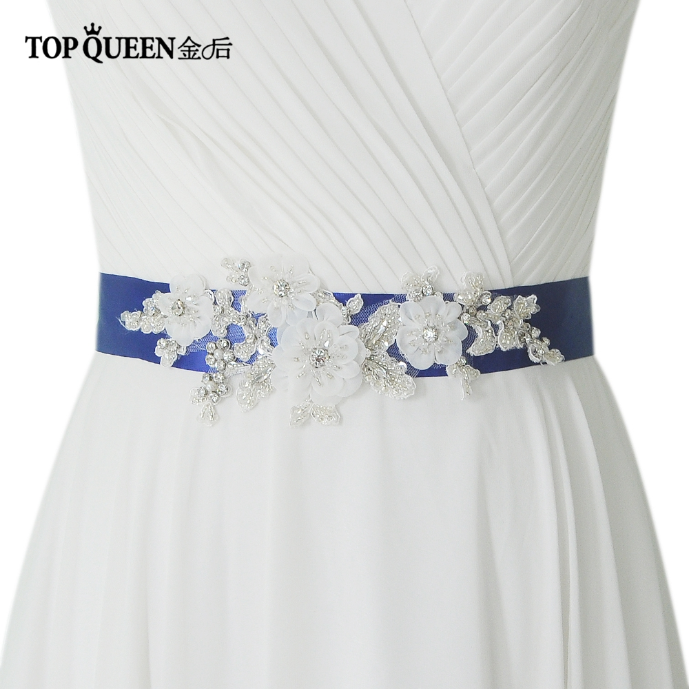 Wedding Gown Belts And Sashes: TOPQUEEN S358 Wedding Sashes DIY Wedding Dress Belts And
