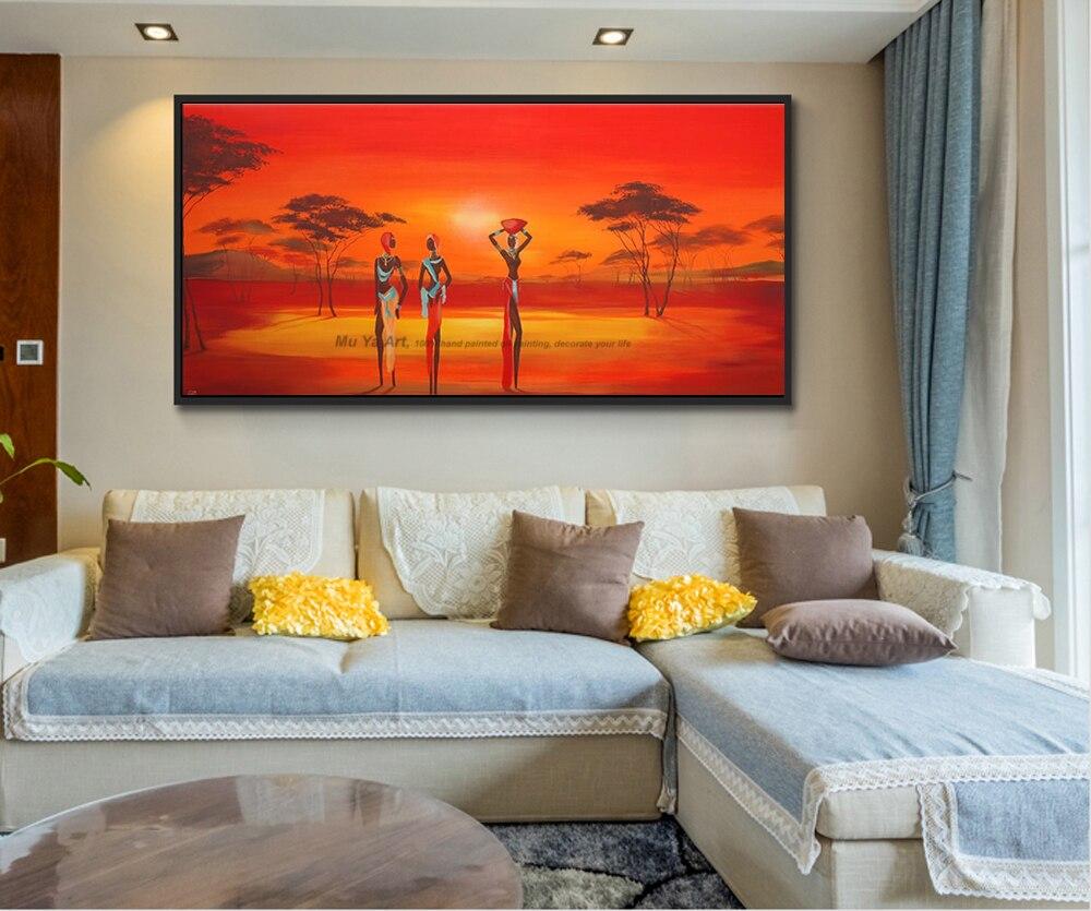 Modern Wall Paintings Living Room Popular African Wall Paintings Buy Cheap African Wall Paintings