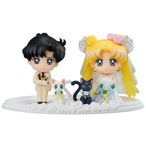 Bishoujo Senshi Sailor Moon Petit Chara Happy Wedding Figure Set Japan Anime Collectible Mascot Toy 100% Original sailor moon stained crystal light gashapon set of 4 japan anime mascot 100% original