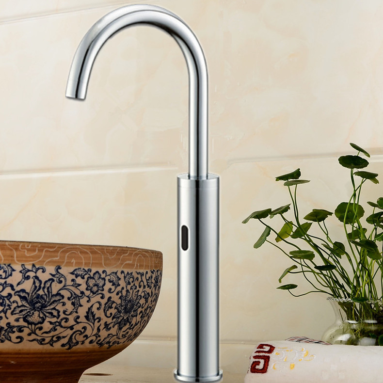 Touchless Quality Brass Chrome Sensor Tap Water Saving Automatic ...