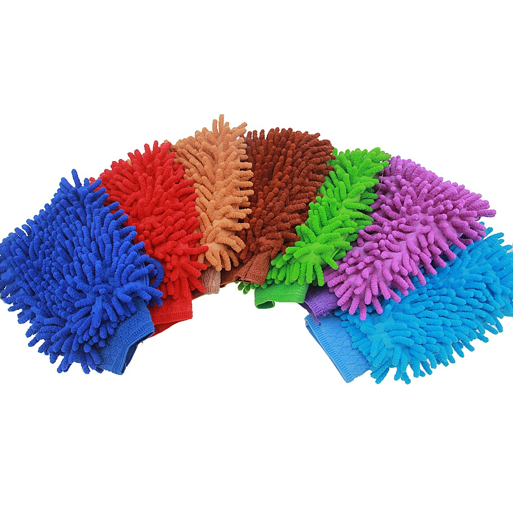 Car Wash Glove Soft Microfiber Chenille Portale Car Cleaning Brush Cleaner Tools Universal For Cars Motorcycle Windows