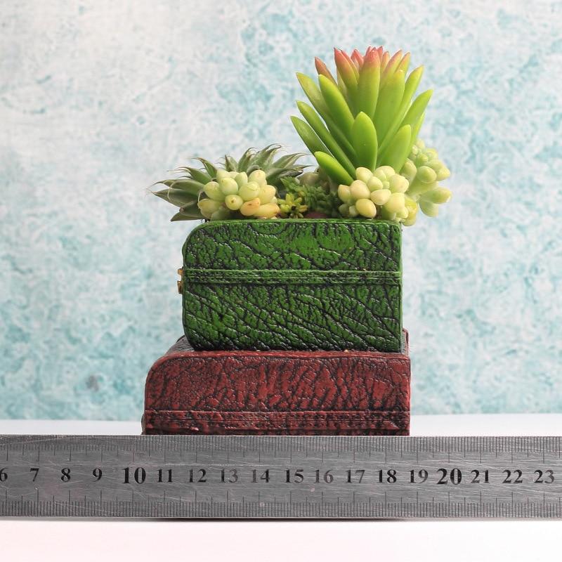 AliExpress & US $19.89 |1 piece Vintage flower pot retro Europe suitcase succulent plant pots gifts design planter holder for cactus plants-in Flower Pots \u0026 ...