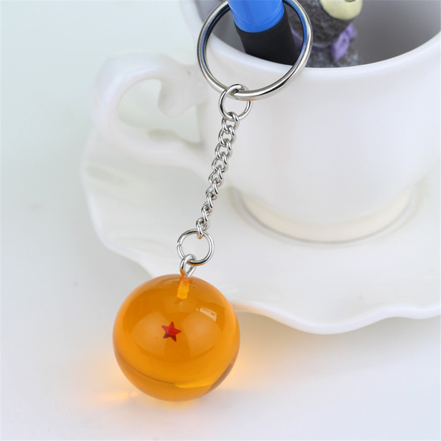 Transparent PVC Hanging Ball Key Chain with Stars