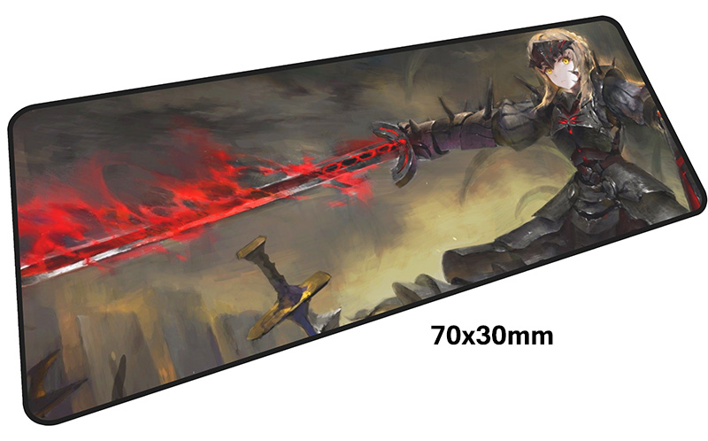 Fate Saber mousepad gamer 700x300X3MM gaming mouse pad large Professional notebook pc accessories laptop padmouse ergonomic mat