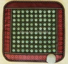 Electric warm  jade stone massage cushion negative ion jade electric chair massage cushion 45*45CM