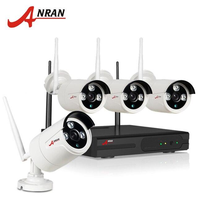2017 Новый Подключи И Играй 4CH Беспроводной Комплект NVR P2P 720 P HD Открытый ИК IP Видеонаблюдения Камеры ВИДЕОНАБЛЮДЕНИЯ WIFI Видеонаблюдения Система