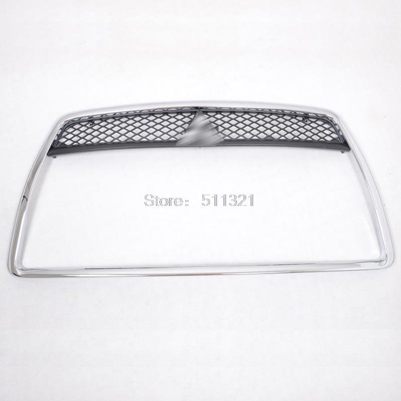 ABS Chrome Plastic Front Grille Around Trim Car Racing Grills  Fit for Mitsubishi Lancer 2008 2009 2010 2012 2013 abs chrome front grille around trim racing grills trim for toyota highlander 2012 2013 2014 car styling 1pc