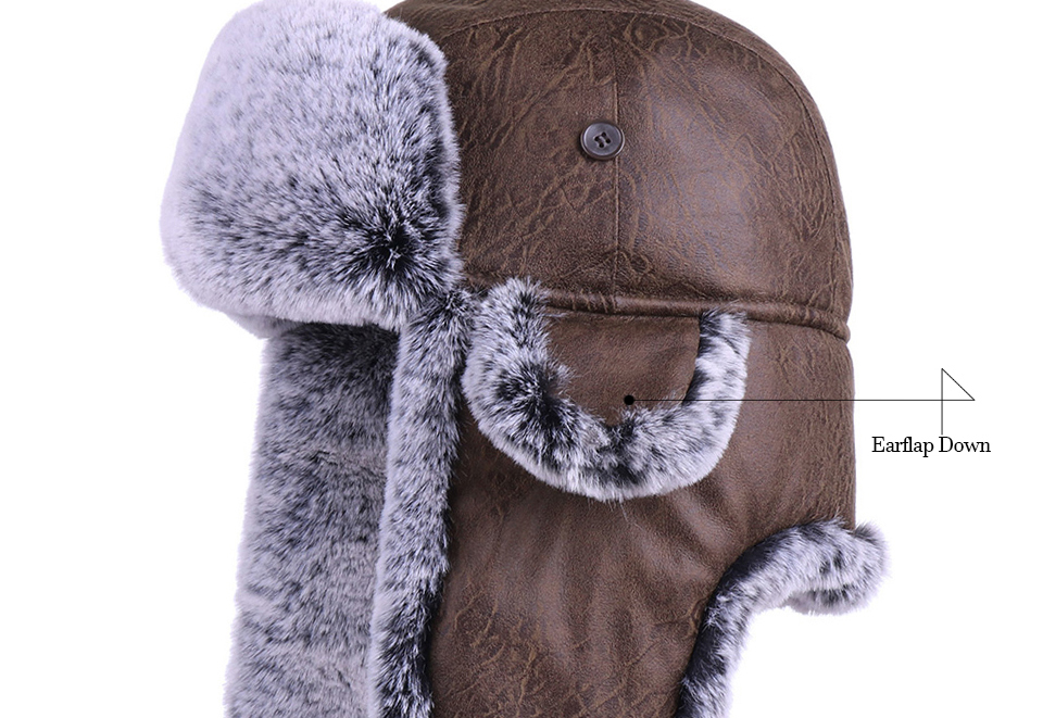 3eb114cc9 Hot Offer] Winter Trooper Ushanka Faux Fur Earflap Russian Aviator ...