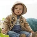 1-5yrs Nuevos bebés Niños prendas de abrigo moda niños chaquetas para Niño niñas chaqueta de Invierno Cálido con capucha ropa de niños