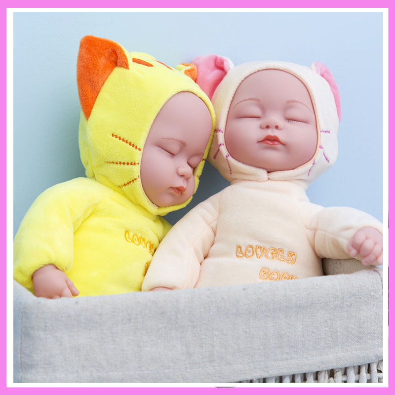 Emulational Игрушки для маленьких детей Детские Плюшевые Музыкальная кукла ПВХ душевный комфорт сна компания куклы песни пение гипнотический ку...
