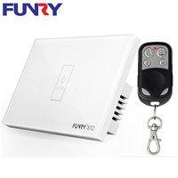 FUNRY 1 Gang 1 Way US Smart Wifi Interruptor Wireless Touch Remote Control Domotique Switch With