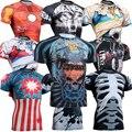 Mangas curtas dos homens de pele protetor do prurido impressão completa compressão camisas multi-uso de Fitness MMA correndo Body Building Tops