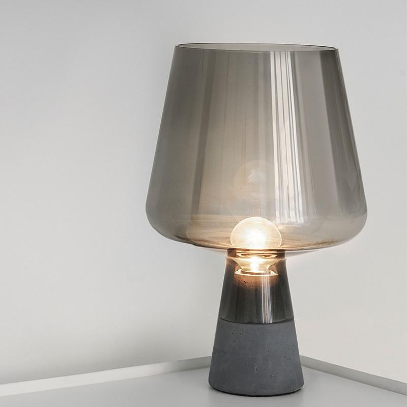 Nordic einfache tisch lampe wohnzimmer glas schreibtisch licht schlafzimmer nacht lampe home decor leuchte-in Schreibtischlampen aus Licht & Beleuchtung bei CHAO PENG B Store