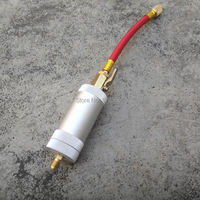 NEW Car A/C Air Conditioning R134a R12 R22 Oil & Dye Injector Quick Coupler 1/4 SAE Hand Turn