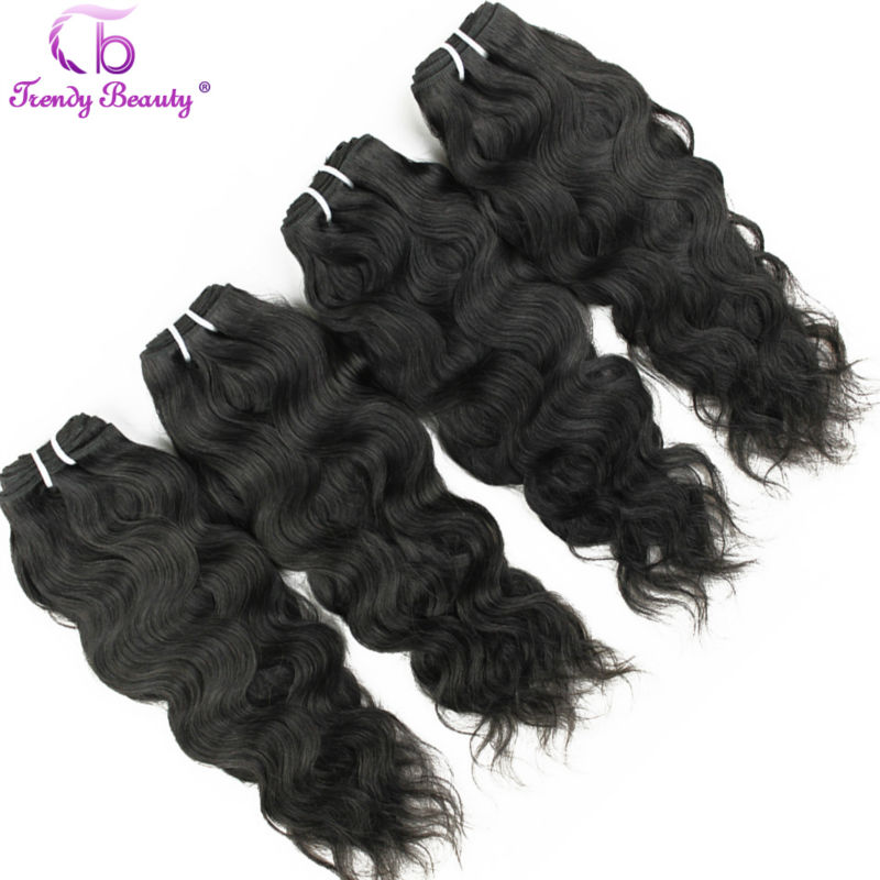 Trendy Beauty Hair Brazilian Natural Wave 4 Pcs Per Lot Natural Black Color 8 30 Inches