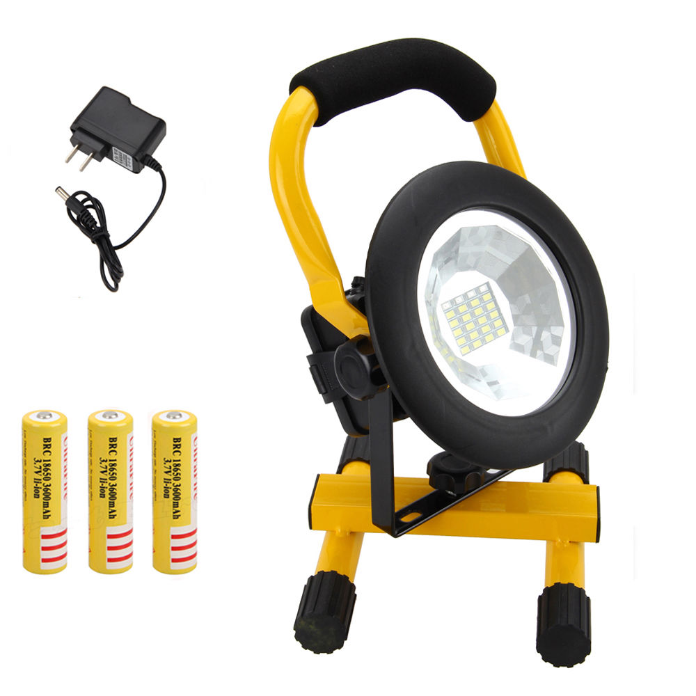 HOT Rechargeable 3000LM Cordless 24 LED RGB LED Spot Flood light Work Lamp Torch