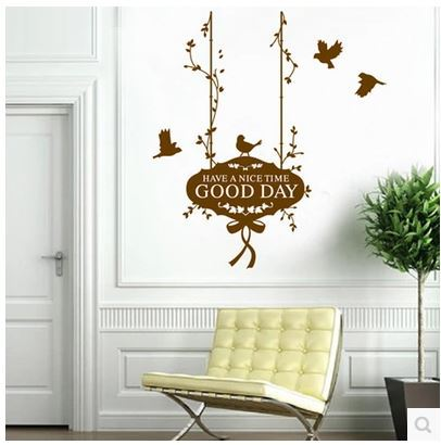 US $9 77 |Have a Nice Time Good Day Quotes Wall Sticker Wall Decals Living  Room Wall Stickers Quotes and Sayings Home Decor-in Wall Stickers from Home