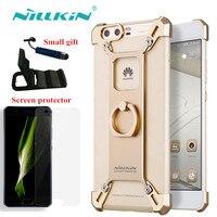 Nillkin para el iphone 6 7 plus cubierta de la caja de metal con anillo barde para Huawei mi6 P10 plus Aleación De Aluminio cubierta de Parachoques para xiaomi mi 6