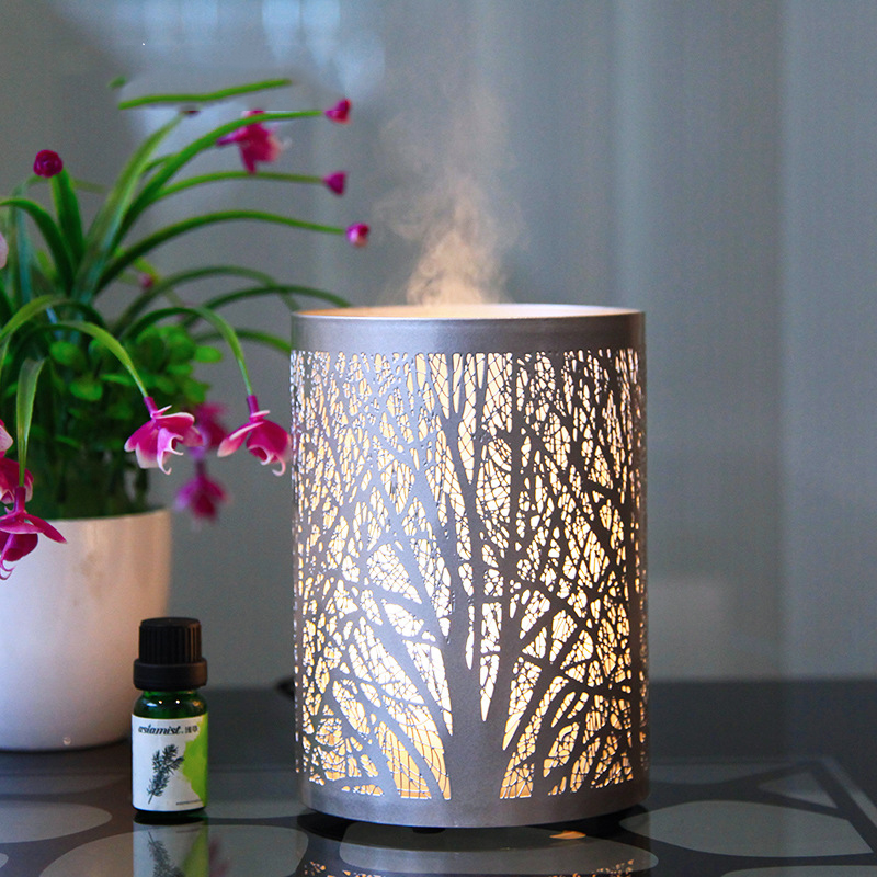 100ML Capacity Beautiful Forest Pattern Remote Control Aroma Oil Diffuser Ultrasonic Air Humidifier Air Mist Maker Essential Oil100ML Capacity Beautiful Forest Pattern Remote Control Aroma Oil Diffuser Ultrasonic Air Humidifier Air Mist Maker Essential Oil