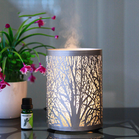 100ML Capacity Beautiful Forest Pattern Remote Control Aroma Oil Diffuser Ultrasonic Air Humidifier Air Mist Maker Essential Oil