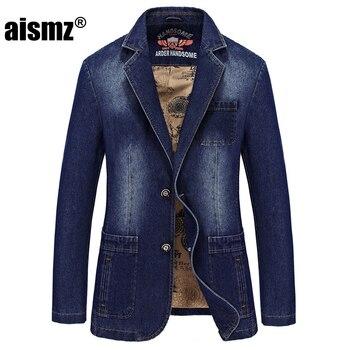 Aismz 2019 spring new trade men's jacket men's denim jacket classic casual jeans suit Korean fashion loose Slim coat  M-4XL