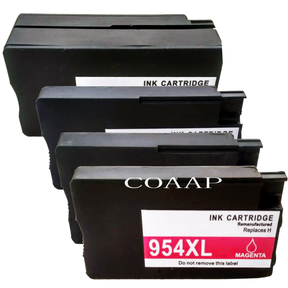 4 Compatible hp 954 xl Refillable ink cartridge for OfficeJet Pro 7720 Large Format All in
