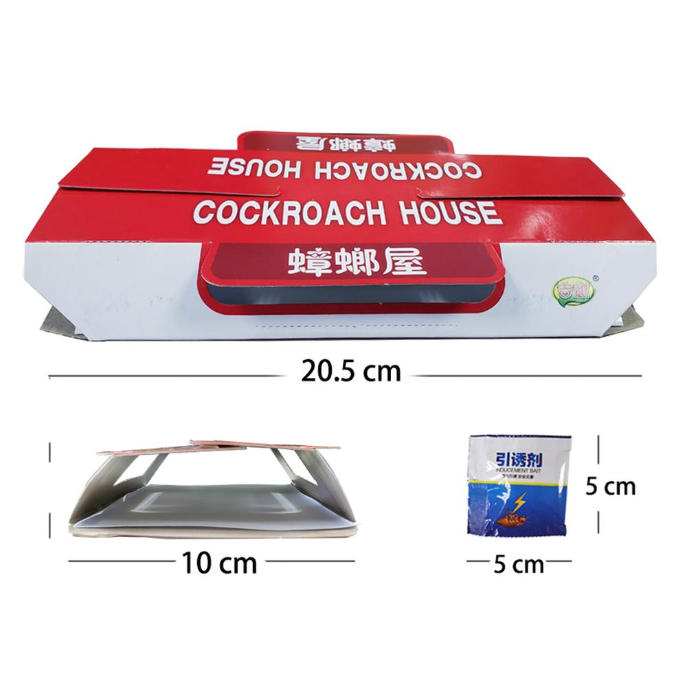 Image 3 - 10pcs Killing Roach House Anti Cockroach Trap Bait Included Disposable Killer Cockroach Glue Trap-in Traps from Home & Garden