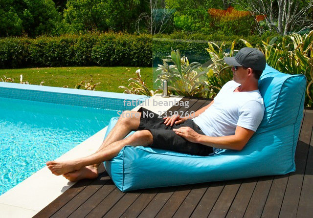 COVER ONLY , no filler Aqua blue outdoor bean bag chair, External beanbag  sofa seat furniture, patio hammock beds,garden seat-in Garden Sofas from  Furniture ... - COVER ONLY , No Filler Aqua Blue Outdoor Bean Bag Chair, External