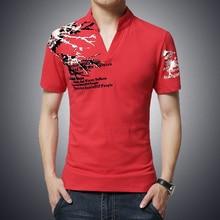 T-Shirt Mens 2016 Men'S Fashion Color Printing Shirt Short-Sleeve T Shirt Men Slim Men T-Shirt  Casual  Homme M- 5XL