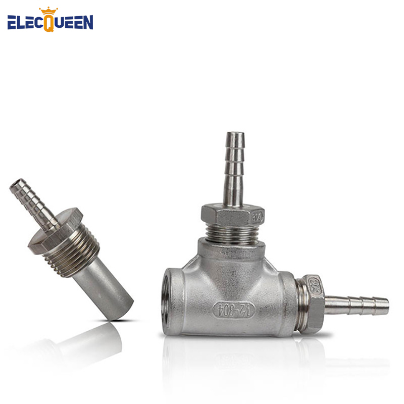 Stainless Steel Inline Aeration/Oxygenation Diffusion Stone 2 Micron 1/2 MPT for Homebrew
