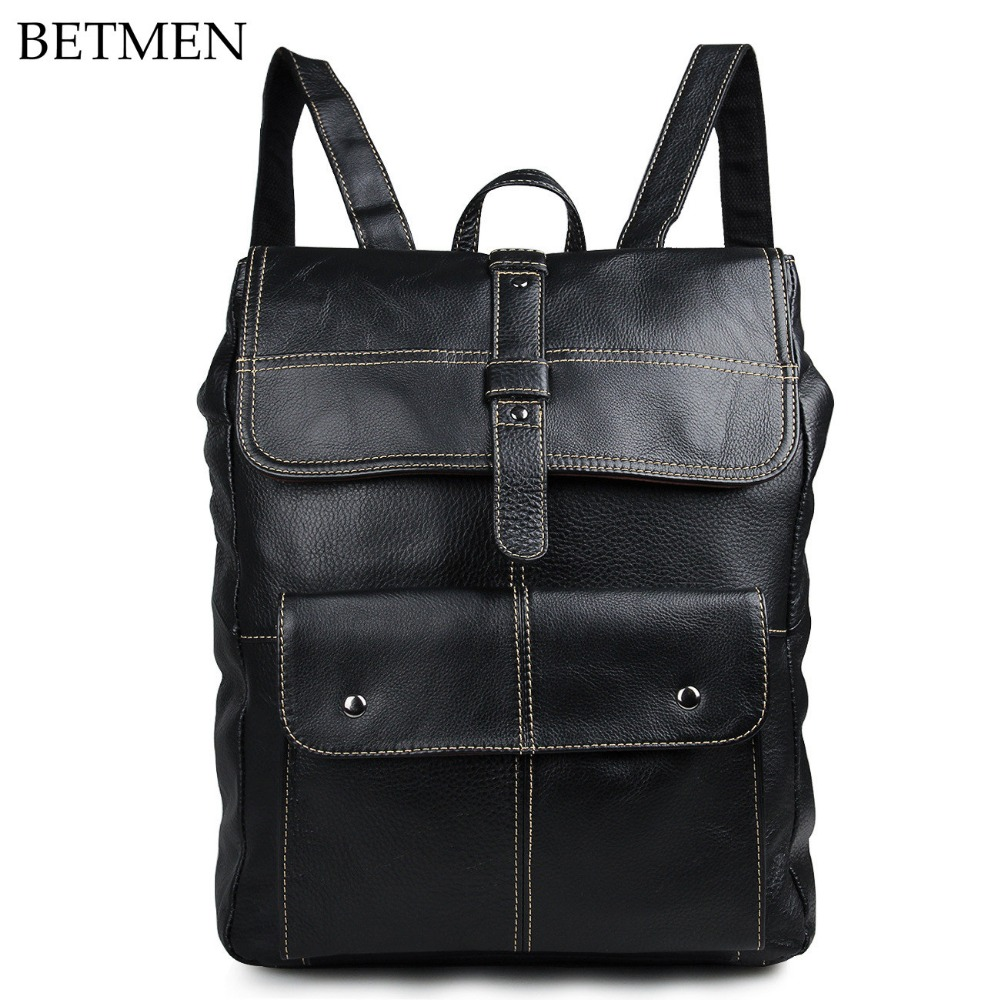 BETMEN Vintage Genuine Leather Men Backpack Brand Large Capacity Business Casual MensTravel Bags свитшот print bar love is physiology