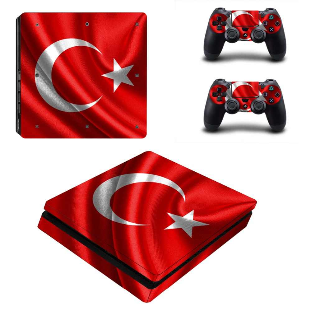 Turkey National Flag Stickers for PS4 Vinyl Anti slip Decal