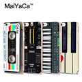 Keyboard Synthesizer Mus MaiYaCa Transparent Soft Cell Phone Protective Cover For iPhone 4s 5s 6s 7 7plus case