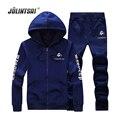 Jolintsai Plus Size 4XL Mens Hoodies 2017 Spring Tracksuits Sportwear Men Hoody Sweatshirt Pants Tracksuit Set