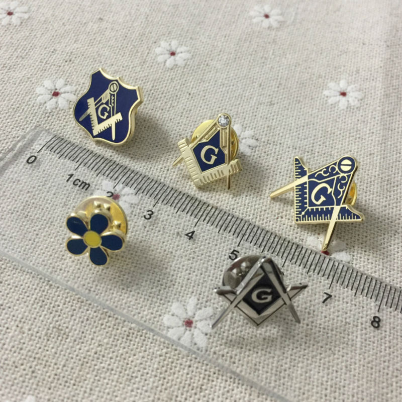 US $15 99 |5pcs Different Past Master Small Enamel Brooch Flower Masonic  Lodge Tie Pins Free Masons Freemasonry Craft Lapel Pins Masonry-in Pins &