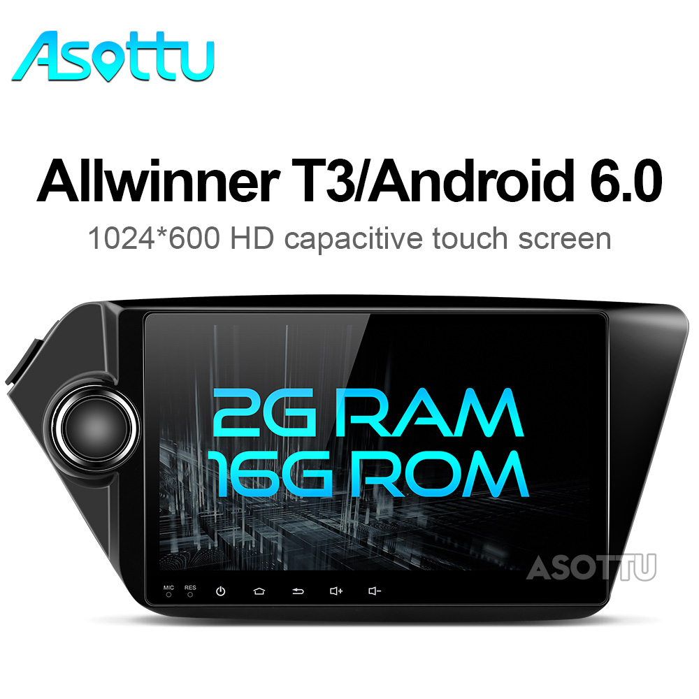imágenes para Infidini android 6.0 navegación del coche dvd gps 2 din estéreo del coche 9 pulgadas 1024*600 para Kia k2 RIO 2010 2011 2012 2013 2014 2015