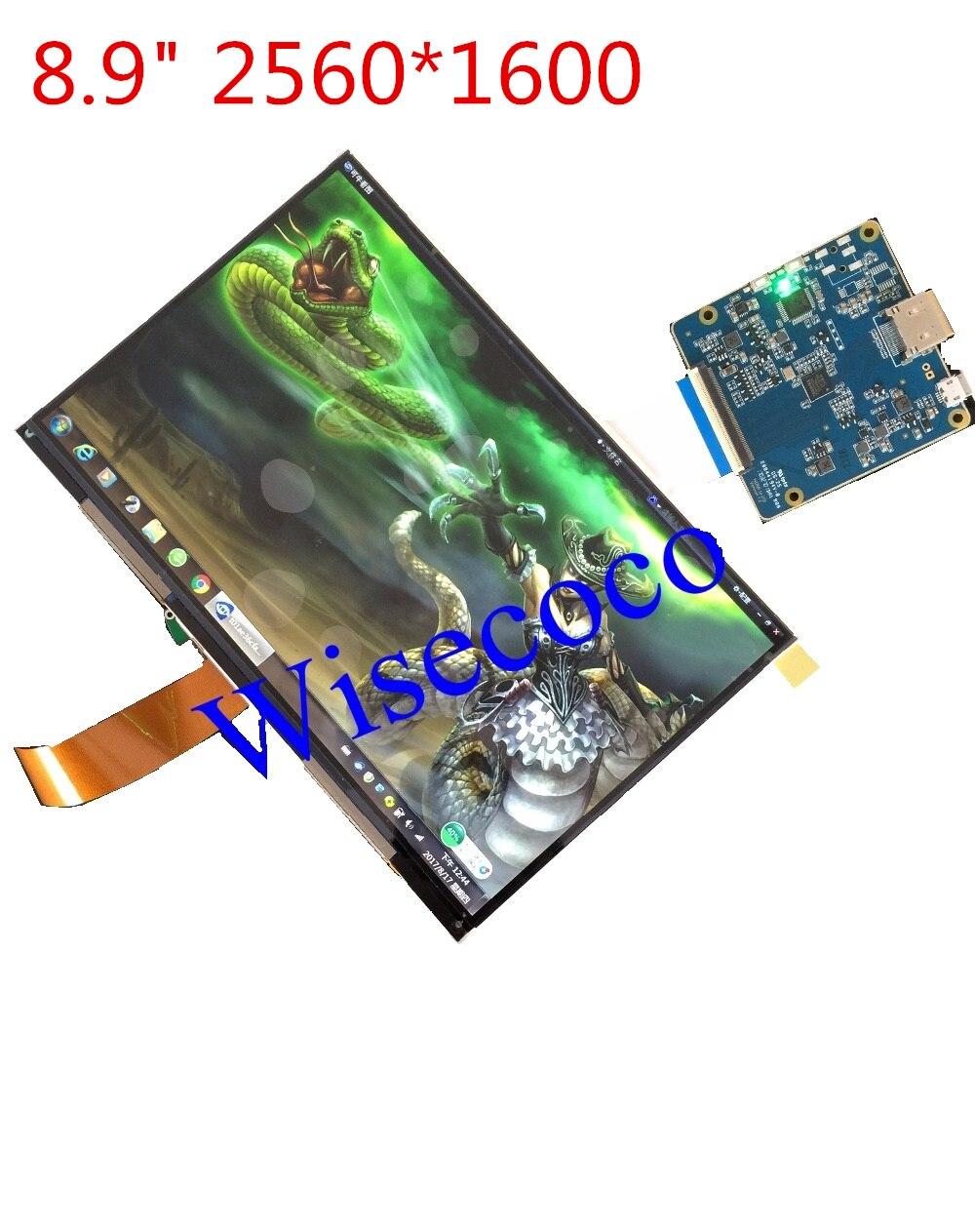 8.9 pouce 2560*1600 WQXGA 2 k LCD Module Écran Lecteur Conseil HDMI Affichage DIY Projecteur Kit 3D Imprimante moniteur