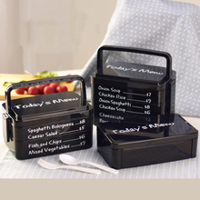 YIHAO 850ML 1900ML 2570ML High Quality Hot Sale Nordic Style Plastic Rectangle Lunch Box Microwave Portable