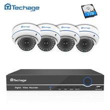 Techage 4CH 8CH 1080 P POE NVR Sistema CCTV Impermeable Cámara Domo IP P2P 2MP A Prueba de Vandalismo de Interior Al Aire Libre de Vigilancia de Seguridad Kit