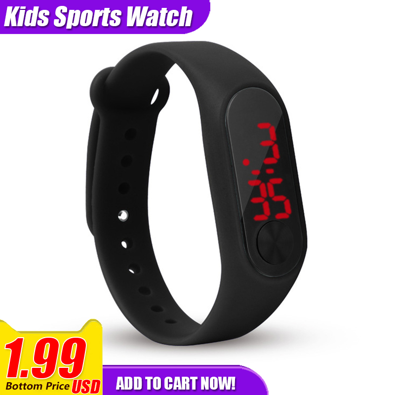 Sport Girls Boys Kid Watch Children Digital Clock Relogio Montre Enfant Digital LED Watches For Kids Children Silicone Watches