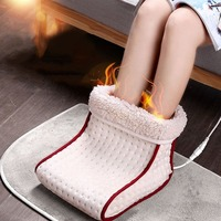 2018 Electric Massageer Electric Warm Heated Foot Warmer Washable Heat Warmer Cushion Thermal Foot Warmer 5 Modes Heat Settings