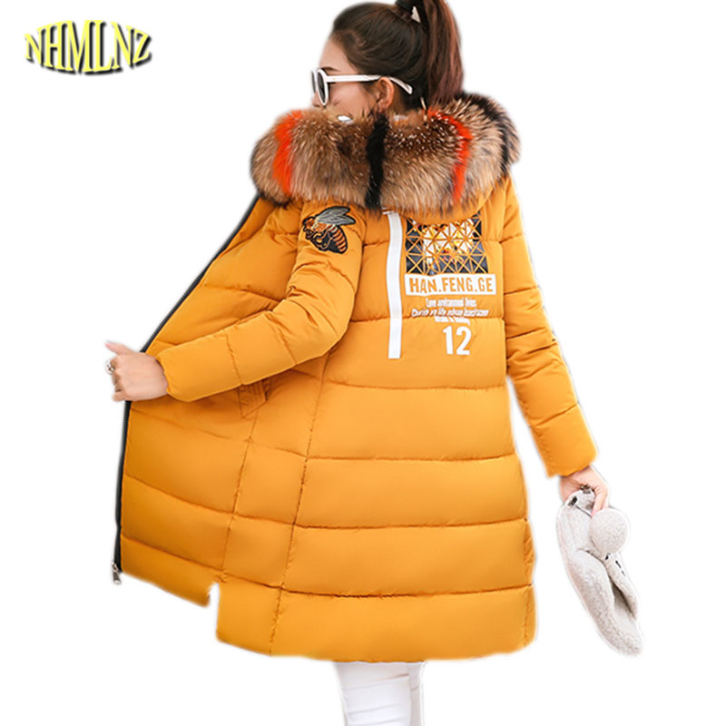 Women's Clothing Winter Warm Jacket Thick Hooded Fur Collar Cotton Overcoat New Fashion Women Coat Plus Size Loose Office Female Jacket Ok624 Refreshing And Enriching The Saliva Parkas