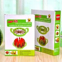 Praktische Edelstahl Schneiden Wassermelone Werkzeuge Schnitte 12 Uniform Scheiben Geeignet für Alle Arten von Melonen Kleine und Große Größe